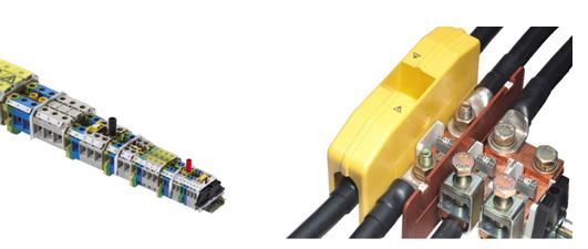 简单实现电路绝缘 •电流、信号及测量电路的绝缘,即使在线路连接的状态下 •操作方便,不需工具 •简化故障排除的检测工作 •以封条确保了开关的开启和关闭状态• 清楚标示所有的标识点 •即使在线路连接状态下,标志条仍清晰易读 •连接时可清楚的分配导线 •简化故障排除的检测工作 •利用wiemarc标志系统可进行标志条定制操作 灵活而通用的连接 •压线部位符合EN 60947-7标准 &#82