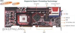 IEI威达电 AGP显卡,800MHz外频的主板SAGP-865EVG火凤凰