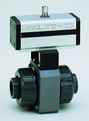 611-613 OMAL(欧美尔)PVC耐腐蚀气动球阀